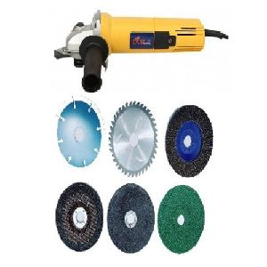 Yking 2801/Dw 801 Angle Grinder 100 Mm With Cutting Wheel Set Of 6 Pcs