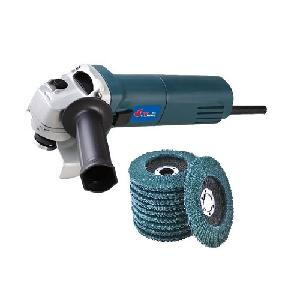 Yking 2601/Bs 6-100 Angle Grinder With Grinding Wheel Set Of 10 Pcs