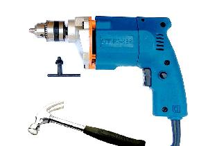 Dee Power 10 Mm Electric Drill Machine With Hammer