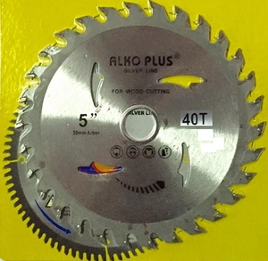Alko Plus Silver Tct Saw Blade 5 Inch X 40t For Wood Cutting Pack Of 20 Pcs