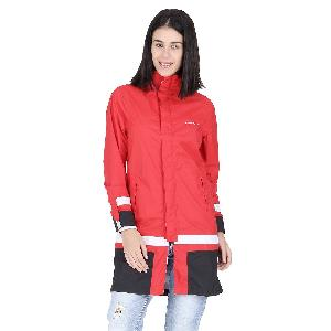 Versalis Womens Maria Long Raincoat Size S Red Vs07frct000003n00s