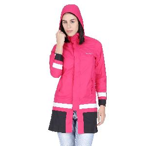 Versalis Womens Maria Long Raincoat Size Xl Pink Vs07frct000003p00xl