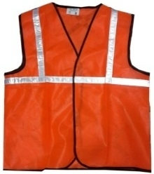 Prima Reflective Safety Jacket In Orange With 1 Inch Reflective Tape