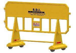 Bdi Bdrsrbyl0050 Safety Fence With Wheel Yellow 1250 Mm
