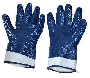 SunLong Blue Nitile Full Dipped Chemical Resistant Gloves