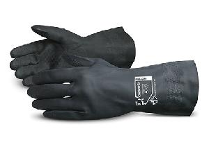 Sunlong Black Chemical Resistant Gloves Neoprene