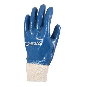 Midas Safety Hercules 9000 Nitrile Coated Gloves Large Pack of 12 Pair