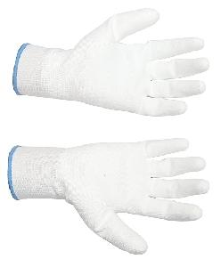 Midas Safety White Pu Coated Gloves Large Pack Of 12 Pair