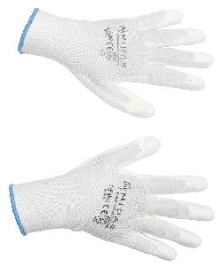 Midas Safety White Pu Coated Gloves Small Pack Of 12 Pair