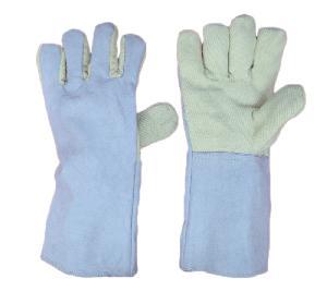 Sai Safety Palm Leather Kevlar Hand Gloves