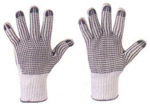 G F Medium 100 Cotton Pvc Dots Gloves 12 Pairs 14431m Dz The