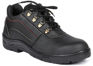 Wonker Sr-0004 Black Steel Toe Safety Shoes Size: 8