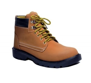 Wonker Sr-501 Tan Steel Toe Safety Shoes Size: 8