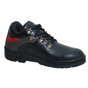 Wonker Sr-0008 Black Steel Toe Safety Shoes Size: 8