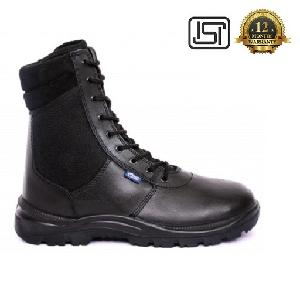 Allen Cooper Ac-1095 6 No. Black Plain Toe Safety Shoes