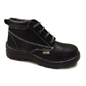 Jcb Heat Max Grain Textured Leather Steel Toe Safety Shoes Size: 9