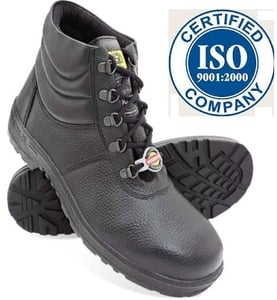 d2bb14ded8a Liberty Warrior 7198-02 7 No. Black Steel Toe Safety shoes