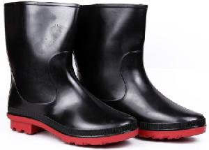 Hillson Don Black & Red Plain Toe Gumboot Size 10