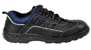 Jk Port Jkpb055blk8 Anti-Skid Steel Toe Leather Safety Shoes Size: 8