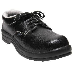 Polo Steel Toe Black Safety Shoes Size 8