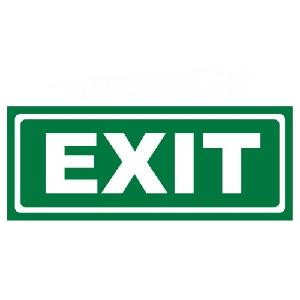 Generic Exit Safety Sign Board