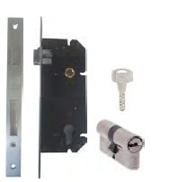 Yale Mortise Lock and Cylinder Lock Set YMS24-BRSS04/70TTSNDK-S