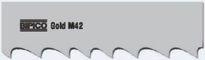 Bipico M42 Gold 27x0.90 Mm Bimetal Band Saw Blades 2540 Mm 8/12 Tpi