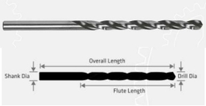 Jk Tools Slow Spiral Long Series Parallel Shank Drill (Size 28.57 Mm, Flute Length 201 Mm)