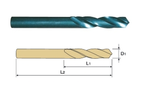Yg1 Dpu-M09.20 Hss Straight Shank Twist Drill Stub Series (Dia 9.2 Mm, Flute Length 40 Mm)