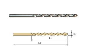 Yg1 Dpl-M10.80 Hss Straight Shank Twist Drill Long Series (Dia 10.8 Mm, Flute Length 128 Mm)