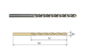 Yg1 Dpl-M15.25 Hss Straight Shank Twist Drill Long Series (Dia 15.25 Mm, Flute Length 149 Mm)