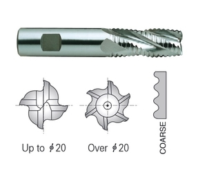 Yg1 E2751500 Roughing End Mill 6 Flute Flat Shank Short Series (50 Mm)