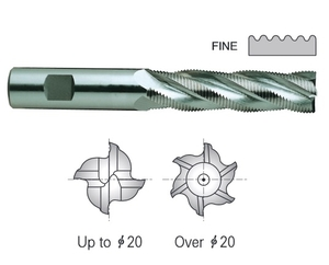Yg1 E2762940 Roughing End Mill 6 Flute Flat Shank Long Series (40 Mm)