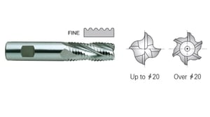 Yg1 E9720140 Roughing End Mill 5 Flute Flat Shank Long Series (14 Mm)