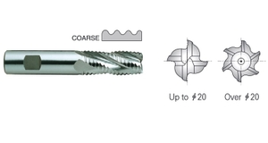 Yg1 E2751125 Roughing End Mill 4 Flute Flat Shank Short Series (12.50 Mm)