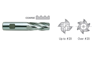Yg1 E2751240 Roughing End Mill 5 Flute Flat Shank Short Series (24 Mm)