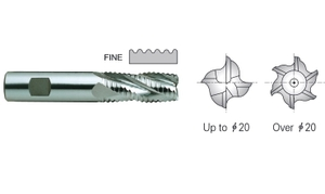Yg1 E9720160 Roughing End Mill 5 Flute Flat Shank Long Series (16 Mm)