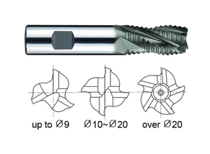 Yg1 Gb751080 Roughing End Mill 3 Flute Short Series (Dia 8 Mm)