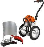 GT-Shakti 52CC Heavy Duty Hand Push Petrol Brush Cutter With Wheels