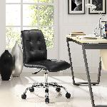 Exclusive Furniture Zingy Office Chair In Black Leatherette COCHB04