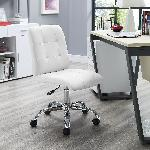 Exclusive Furniture Zingy Office Chair In White Leatherette COCHW04