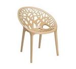 Nilkamal Crystal Chairs - Biscuit Brown - Crystal PP