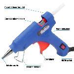 Glun 20W Glun Blue Hot Melt Glue Gun With 25 Glue Sticks