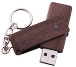 IB Basics Wooden Drive Stick With Keychain Memory Flash 8 GB Pen Drive