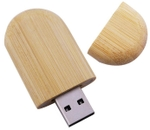 IB Basics Oval Shaped Bamboo Wooden 4 GB Pen Drive Pack Of 200 Pieces