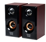 Quantum QHM630 Wooden Magenta USB Mini Speaker