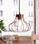 Noble Electricals Ibarra Copper Brown Cage Pendant Light NED11.40
