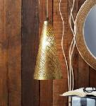 Noble Electricals Abner Golden Cone Metal Pendant Light NED11.65