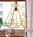 Noble Electricals Sergio Yellow Diamond Cage Pendant Light NED11.42