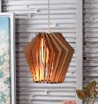 Noble Electricals Whirlpool Natural Wood Pendant Light NED11.50